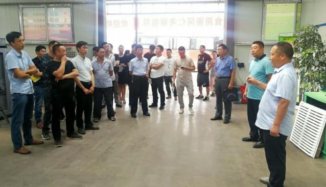 河南:鲁山县考察团到宝丰县弘亚食用菌科技有限公司参观考察