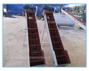 隆兴刮板上料机 菌料输送机 刮板提升机厂家定制尺寸