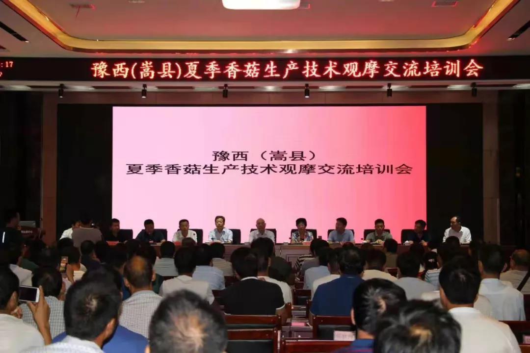 豫西(嵩县)夏季香菇生产技术观摩交流培训会成功举办