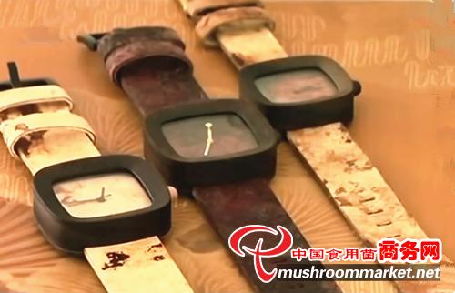 印尼鐘表匠用蘑菇菌絲為原料制作表帶