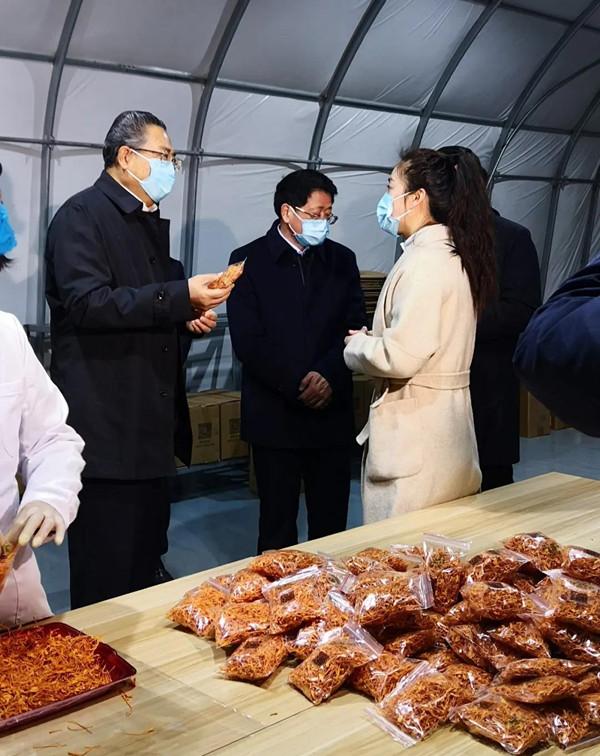 安徽:省委书记李锦斌考察太和县百麓食药用菌科技产业园