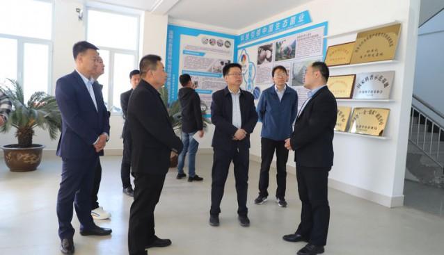 陕西省陇县农业考察团一行莅临七河生物公司考察