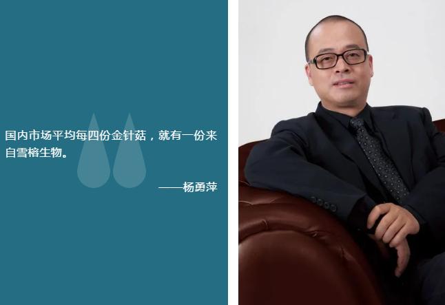 """雪榕生物杨勇萍:从""""菜头""""到""""菇爷"""""""
