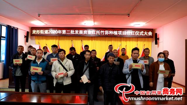 贵州黎平县:红托竹荪种植显成效 分红仪式群众笑开颜