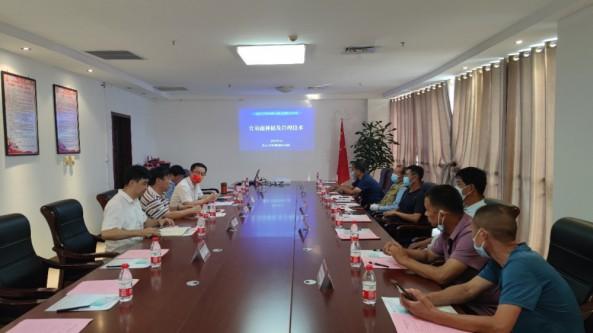 食用菌種植及管理技術對接會在河北省館陶縣順利召開